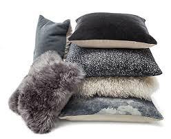 Modern Throw Pillows For Sofa Steel Grey Pillow Ensemble Modern Throw Pillows Modern Bedroom