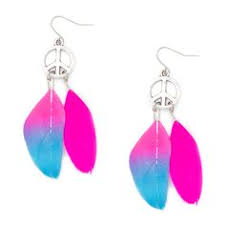 feather earrings s up rainbow feather earrings s claires