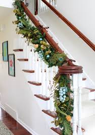 Banister Christmas Garland A Whole Bunch Of Christmas Staircase Decorating Ideas U2014 Style Estate