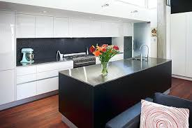 white kitchen with black island white kitchen with black island bench center top subscribed me