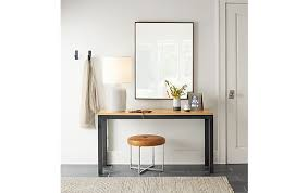 Parsons Console Table Parsons Console Table With Sidney Ottoman Modern Entryway
