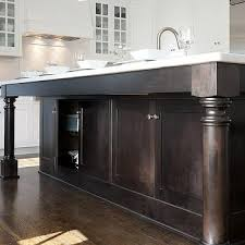 wooden kitchen island legs stained kitchen island design ideas