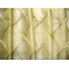gold olive green chain stitch embroidery sheer curtain panels