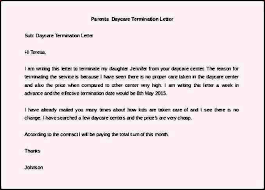 daycare termination letter sample termination letter termination