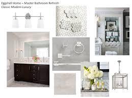 design plan for a classic modern luxury master bathroom refresh
