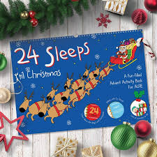 christmas personalized 24 sleeps til christmas activity book simply personalized