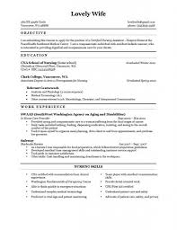 Resume For No Job Experience Sample by Cna Resume Sample With No Work Experience Free Resume Example