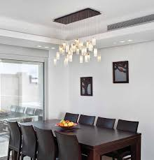Contemporary Dining Room Light Fixtures Drops Chandelier Contemporary Dining Room Los Angeles By
