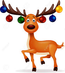 christmas deer deer with christmas royalty free cliparts vectors and stock