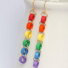eco friendly earrings eco friendly earrings rainbow chain niobium by honeysquilling on