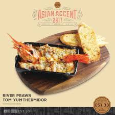 cuisine est est 33 river prawn tom yum thermidor