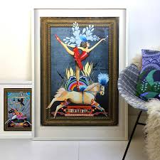 circus ballet dancer on horse poster art print by roo abrook