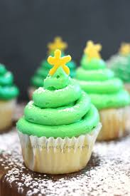 christmas tree cupcakes the crafting