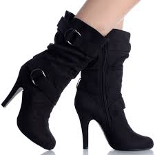 womens boots heels black heel boots for heels me