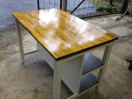 kitchen island ebay ikea freestanding kitchen island bench breakfast bar oak top ebay
