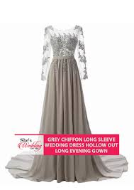 wedding dress malaysia buy grey sleeve chiffon wedding dress malaysia gown