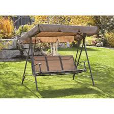 canopied porch swing 3 person 653447 patio furniture at