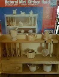 new natural mini kitchen hutch wooden doll house furniture
