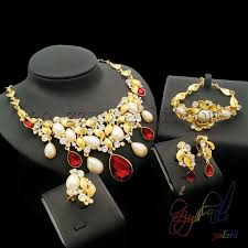 bridal wedding necklace set images Most popular dubai gold color jewelry set kundan jewellery jpg