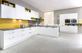 futuristic kitchen paint colors ideas with white cabinet and