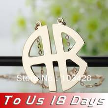 monogrammed pendant necklace monogram promotion shop for promotional necklace monogram