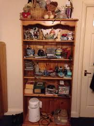 solid pine bookcase in great condition in haymarket edinburgh