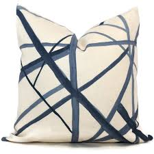 periwinkle blue channels pillow cover by groundworks square euro periwinkle blue channels pillow cover by groundworks square euro or lumbar pillow throw
