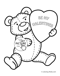 valentine u0027s day coloring pages for kids printable free