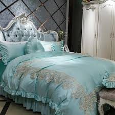 Royal Bedding Sets Cotton Lace Luxury Royal Bedding Set For King Size 4