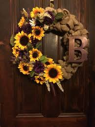 burlap sunflower wreath best 25 sunflower wreaths ideas on door