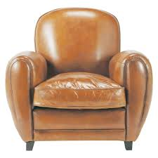 Oxford Armchair Leather Club Armchair In Brandy Colour Oxford Maisons Du Monde