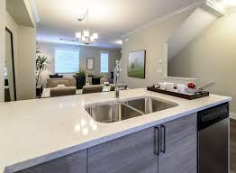 kitchen layout quartz modern pictures seating peninsula sink bench