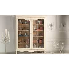 buy french painted white display cabinet swanky interiors