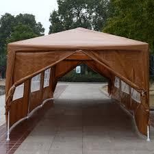 Patio Tent Gazebo by Outunny 10 U0027 X 30 U0027 Gazebo Canopy Party Tent W Removable Side Walls