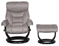 Swivel Recliner Armchair Buy Gfa Senator Grey Faux Suede Fabric Swivel Recliner Chair