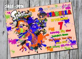 splatoon party splatoon birthday invitation splatoon