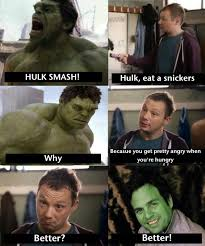 Snickers Commercial Meme - hulk eats snickers snickers hungry commercials know your meme
