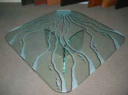 custom glass top for coffee table glass top tables featuring custom etched designs sans soucie art