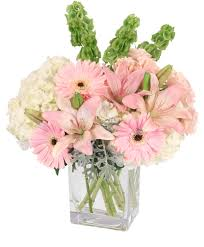 florist ocala fl pink princess vase arrangement in ocala fl artistic flowers