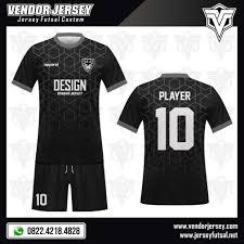 desain baju kaos hitam polos desain baju futsal the dark vendor jersey futsal