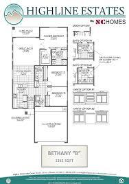 the bethany new home floor plan phoenix arizona highline