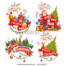 merry christmas banner santa claus stock vector 324443213