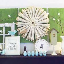 Easter Decorations Mantel by Easter Decorating