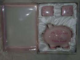 keepsake piggy bank piggy bank photo keepsake box pink 1st tooth curl lidded boxes