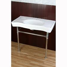 kingston brass console sink kingston brass vpb1361st fauceture stainless steel console tables