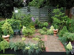 landscape design ideas for small backyards with various herbs and