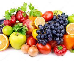 set of different fruits and vegetables u2014 stock photo alinamd