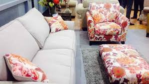 Sofas And Armchairs Design Ideas Red Leaf Pattern White Fabric Sofa Chair With Red Leaf Pattern