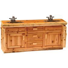 72 In Bathroom Vanity Fireside Lodge Traditional Cedar Log 72 Bathroom Vanity Base