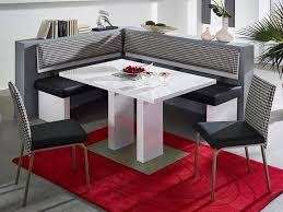 kitchen fascinating corner kitchen table and chairs design with kitchen modern white corner kitchen table with black leather seatings and red rug corner